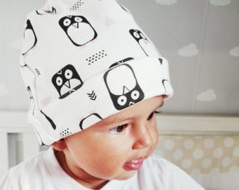 "Organic cotton cap ""penguins"""
