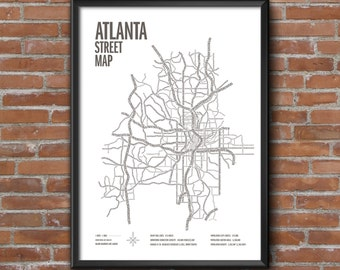 Atlanta Street Map Print