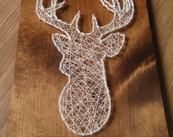 Deer String Art, Deer Art, Outdoor String Art, Deer String Design, Deer Design, Deer Art Design, String Art, Outdoor Deer String Art, Deer