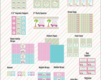 Surfer Girl Party | Party Printables