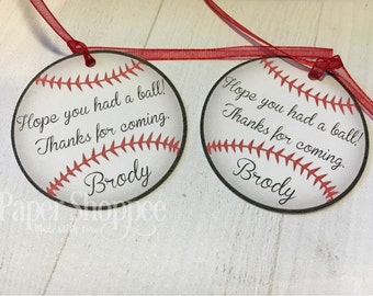 Baseball favor tags thank you tags birthday baby shower