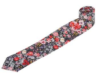Elegant Floral Tie.Wedding Tie.Wedding Gifts.Groomsmen Tie.Cotton Necktie.With Matching Set.Mens Gifts.Gifts Ideas.