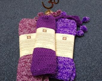 Purple Crochet Leg Warmers