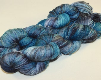 Sock Yarn 100% Superwash Merino Wool Midnight