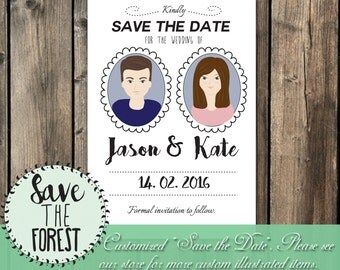 Custom Wedding Save the Date - Illustration