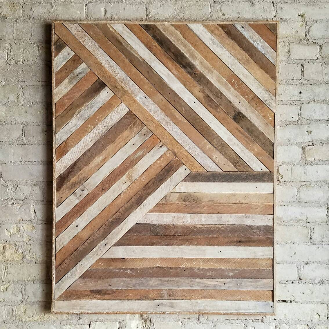 Reclaimed Wood Wall Art Wood Wall Decor Twin By EleventyOneStudio