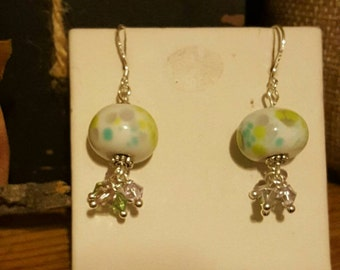 Handmade lampwork beaded earrings