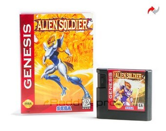 Alien Soldier EA Style Reproduction (Sega Genesis, 1995) Repro