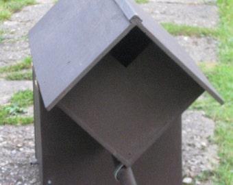 Handmade wooden Little Owl nest box. Made to the Hawk & Owl Trust Design.