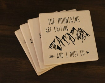 Mountains Are Calling Coaster Set