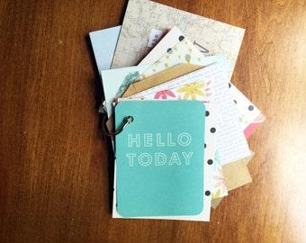 Hello Today Mini Book: Journal