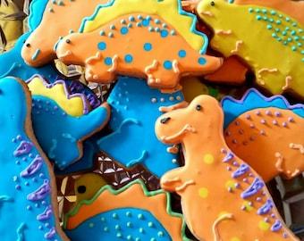 Dinosaur cookies (12 cookies)