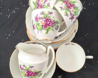 Royal Stafford 'Violets' Tea Set