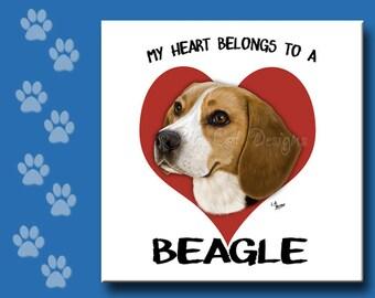 BEAGLE TRIVET, Beagle Tile, Beagle Ceramic Tile,  Beagle Spoon Rest, Beagle Sign, Choose a Style.