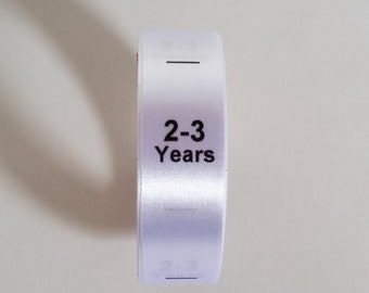 2-3 yrs size labels. Baby and Toddler Clothing Tags