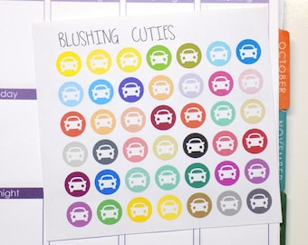 Rainbow Colored Car Symbols Stickers To Use With Erin Condren Planner