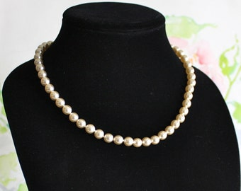 Vintage, Champagne Pearl Necklace