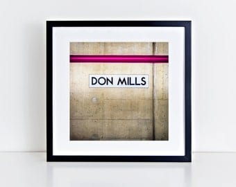 toronto subway station art don mills station retro square wall art made in canada toronto photography fits ikea ribba frames