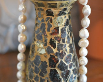Cultured Freshwater Pearl Necklace and Earrings
