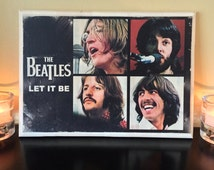 The Beatles Let it Be Wood Collage - 8.5x12