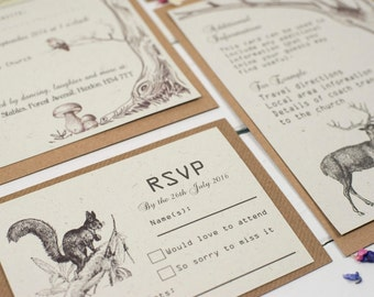 Rustic Woodland, RSVP Cards, Wedding, Garden Wedding,Woodland Wedding, Rustic Wedding, Woodland RSVP, Rustic RSVP, Country Wedding, Woodland