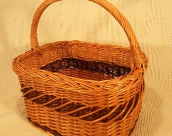 Wicker shopping basket 007