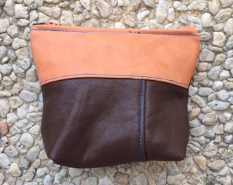 Pouch / wallet lambskin leather