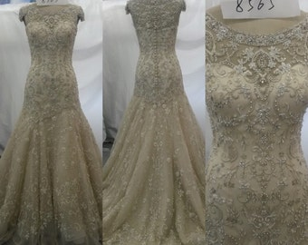 Beaded couture Bridal Wedding Dress