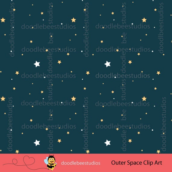 Outer space clipart outer space digital download for Outer space studios