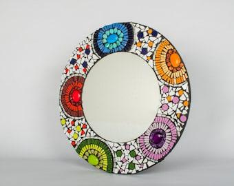 Greek-inspired round mirror