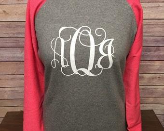 Monogrammed tunic sweatshirts