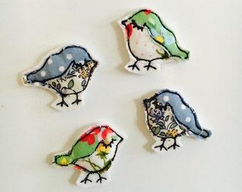 Mini Fabric Bird Magnets