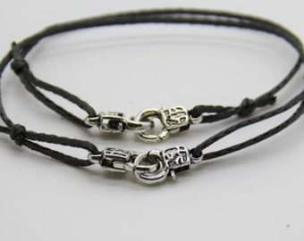Bracelets handcuffs symbol of love in a relationship