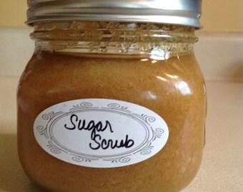 Raw sugar scrub