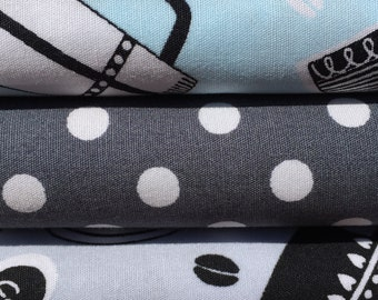 Coffe Shop  and Polka Dots Fat Quarter Bundle