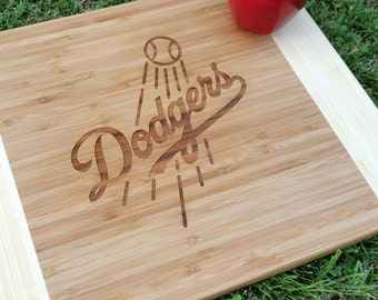 Dodgers Cutting Board, Personalized Cutting Board, Los Angeles Dodgers, Gift for Him, Sports Cutting Board, Baseball