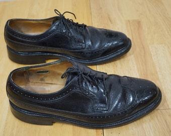 Florsheim Wingtip Shoe / Florsheim Imperial Dress shoes / Size 8.5 DMens Classic Dress Shoes / Florsheim Shoes Long Wingtip