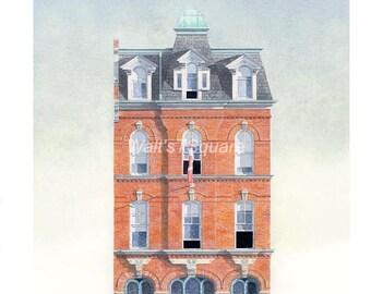 Little York Hotel Greeting Card, 187 King St. E. Toronto // Second Empire, Toronto Architecture, Historian, Architect, Engineer, Designer.