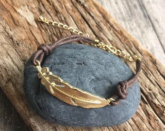 Gold Plated Leaf Bracelet