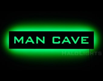 Lighted Man Cave Sign - Mancave LED Backlit Wall Art