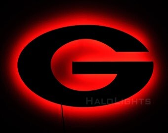 Georgia Bulldogs Sign and G Logo Wall Light