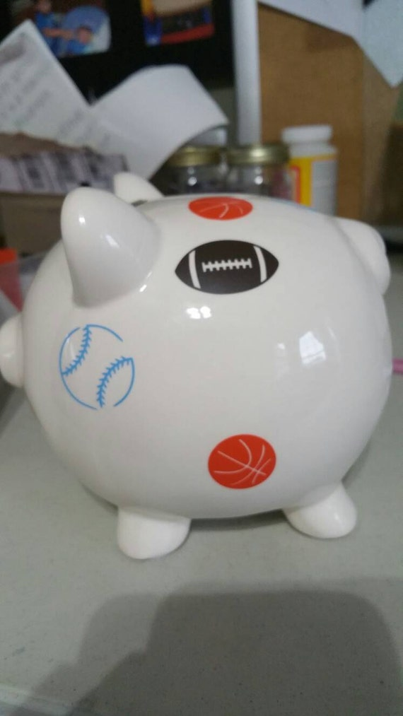 Items similar to personalized boy piggy bank piggy bank boy name on piggy bank piggy bank - Coin banks for boys ...