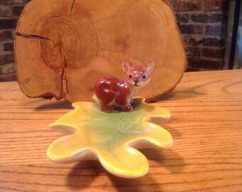 Vintage Cub Oak Leaf Trinket Ring Holder