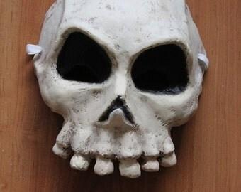 Skull Mask | Paper Mache Mask | Halloween Costume | Halloween Mask | Paper Skull | Scary Mask | Paper Mask | Death Mask