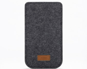 iPhone 6+ Case - Felt Sleeve iPhone - Cover iPhone 6s+ Felt - Grey Case iPhone
