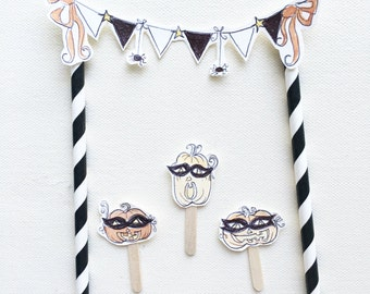 Pumpkin Party Cake Topper