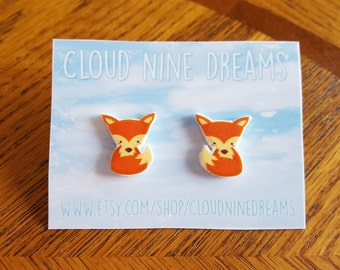 Adorable Orange Fox Earrings