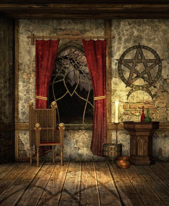Halloween Backdrop Interior Old Window Old Room