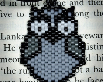simple owl beaded necklace