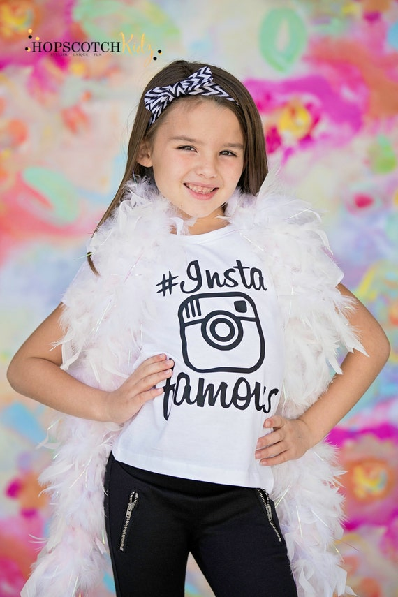 Insta Famous Selfie Shirt Instagram Tee By HopscotchKidzUK